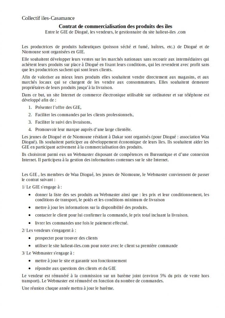 Contrat GIE Commercialisation