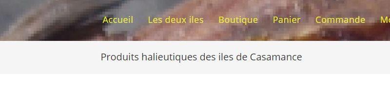Le menu du site halieut-iles.com