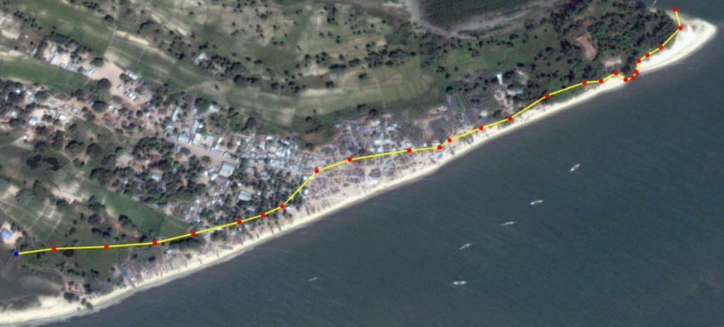 Plage sud de Diogué : 2006-2019